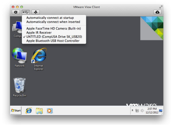 view client mac VMware View Client for MAC   Now with USB support