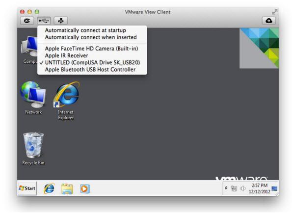 VMware View Client MAC 1.7
