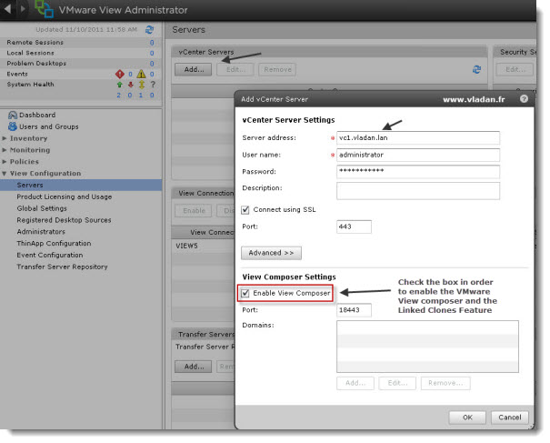 VMware View Connection Server - Initial setup