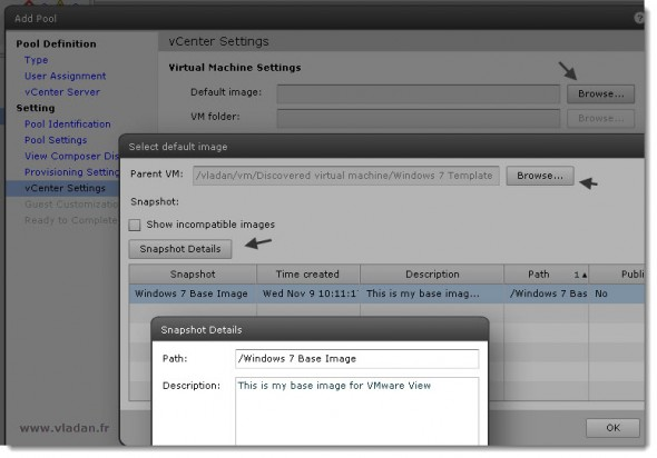 How to configure destkop pool in VMware View