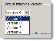 Virtual Machine Hardware Downgrade Options