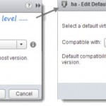 Default VM Compatibility Level in VMware vSphere 5.1