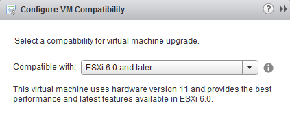 Hardware compatibility level