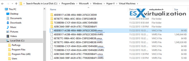 New configuration file for Hyper-V VMs