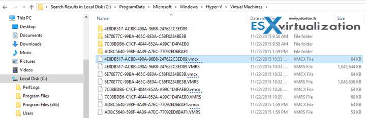 New configuration file for Hyper-V VMs