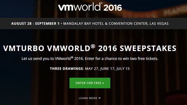 Win a pass for VMworld 2016 with VMturbo