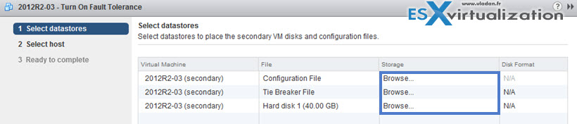 VMware FT with 4vCPU VMs