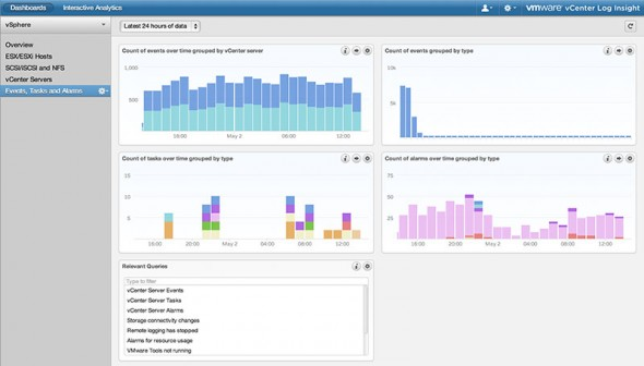VMware vCenter Log Insight User Interface