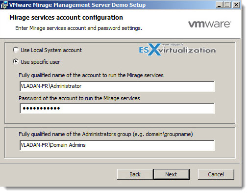 VMware Mirage - Installation in my lab