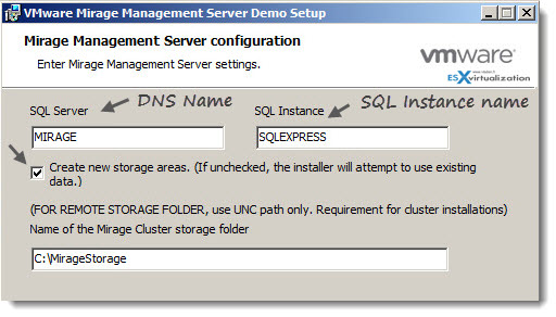 VMware Mirage - Installation of Mirage Management Server