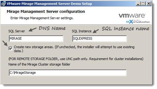 VMware Mirage - Installation of Mirage Management Server