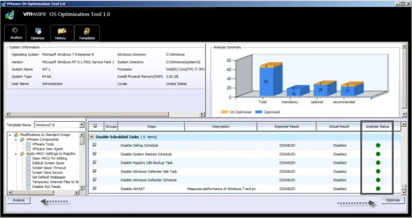 VMware OS Optimization Tool