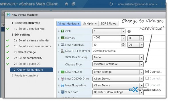 vmware paravirtual 590x352 How to create and install VM with boot disk based on PVSCSI adapter