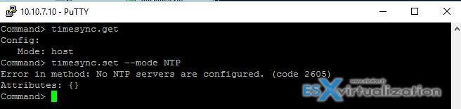 VMware VCSA - Configure NTP
