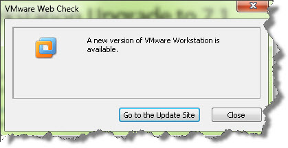 VMware Workstation Upgrade Check