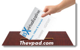 Vote for ESX Virtualization at ThevPad.com