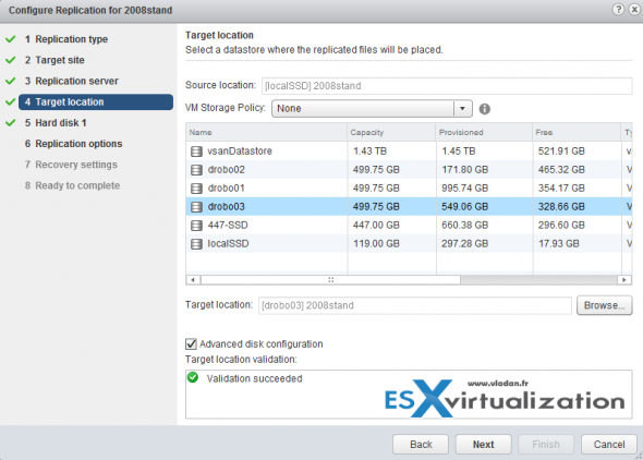 vSphere replication config with single vCenter server