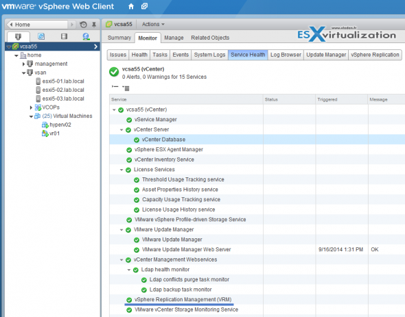 vSphere Replication with single vCenter Server