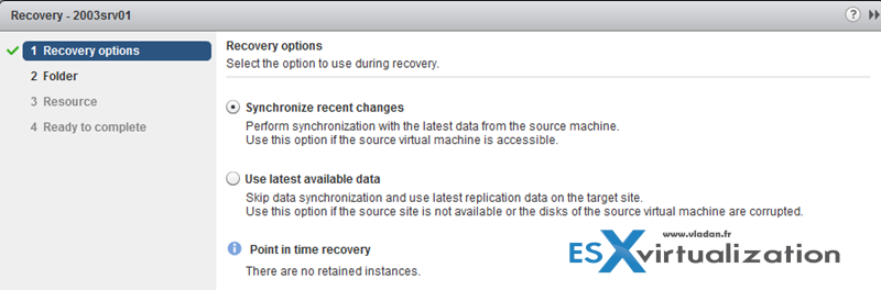 vSphere Recovery - How to recover a VM