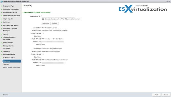 vRealize Automation 7 Simple install   ESX Virtualization