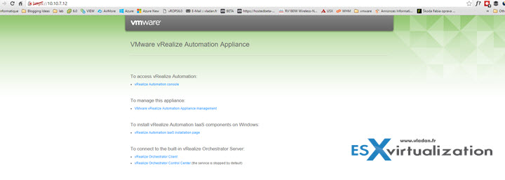vRealize Automation 7 - simple installation