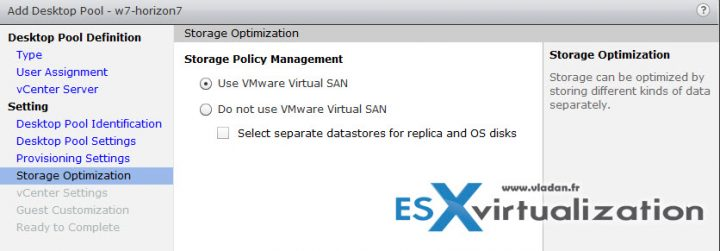 VMware Horizon 7 as an option