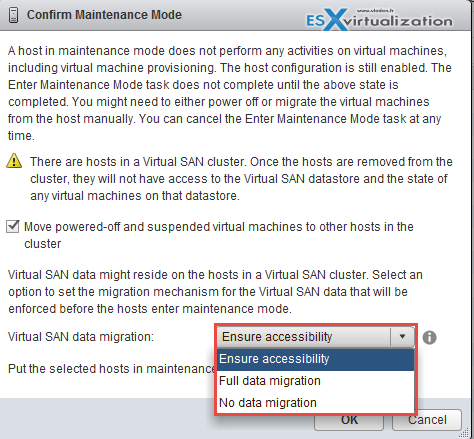 VSAN and Maintenance Mode