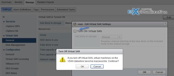 VMware VSAN - Delete VSAN Cluster