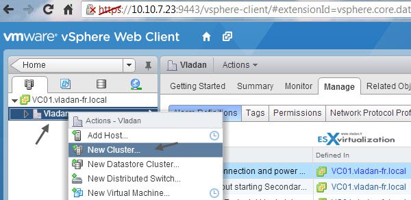 How to create VMware HA cluster