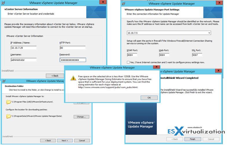 Install VMware vSphere 6.0 update Manager
