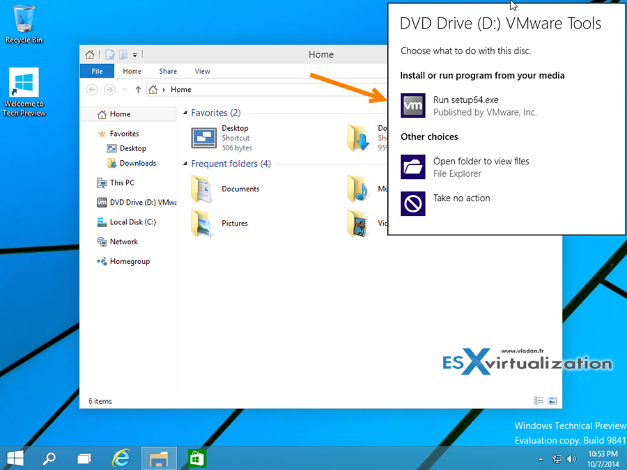 Windows 10 Tech preview Installation in VMware Workstation 11 Tech