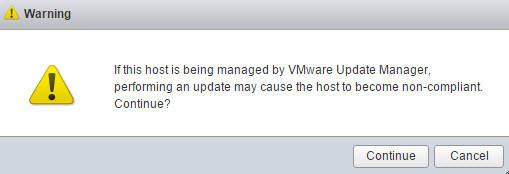 How to patch ESXi with ESXi offline bundle via ESXi host client