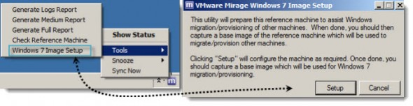 Windows 7 preparation - VMware Mirage