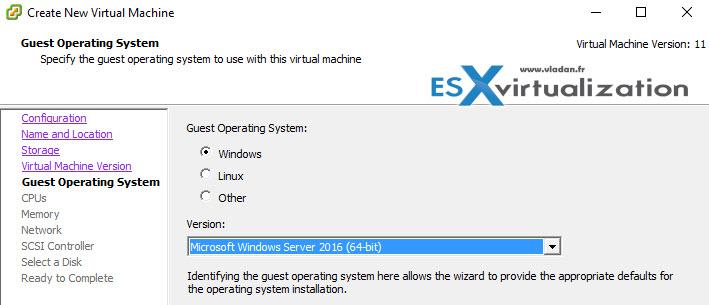 Windows Server 2016 | ESX Virtualization