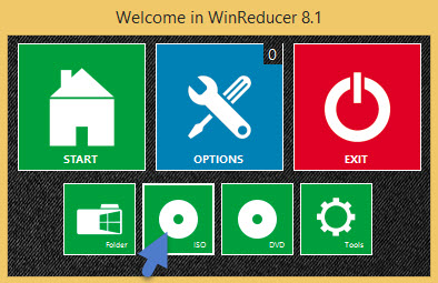 Winreducer - load the WIndows 8.1 iso