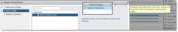 vSphere Web Client - work in progress